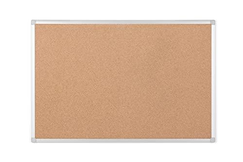 Bi-Office Earth - Tablero de Corcho, 120 x 90 cm, Tablón de Anuncios con Marco de Aluminio
