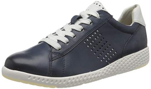 MARCO TOZZI 2-2-23766-24, Basket Femme, Bleu Marine Blanc 839, 41 EU