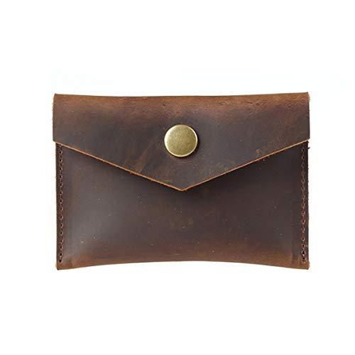 JTRHD Monedero de la Bolsa de Cambio Envolvimiento Monedero Monedero Retro Monedero Corto Monedero Billetera compacta para Damas Mujer (Color : Marrón, Size : 12x1.5x8cm)