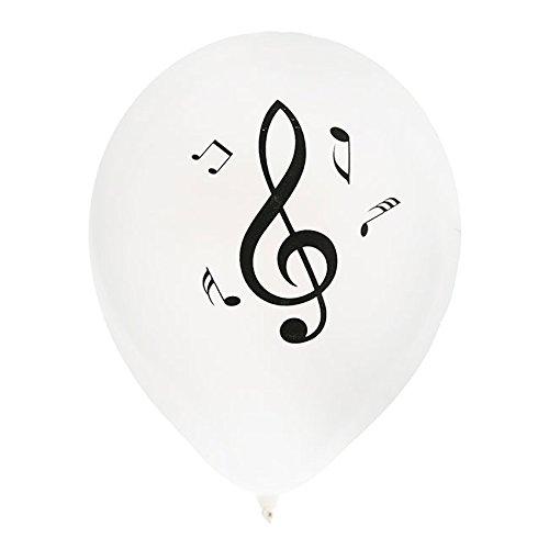 NEU Luftballon Musiknoten, 8 Stück, Ø 23 cm