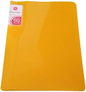 حامل شفاف من ساسكو - 60 جيب، أصفر