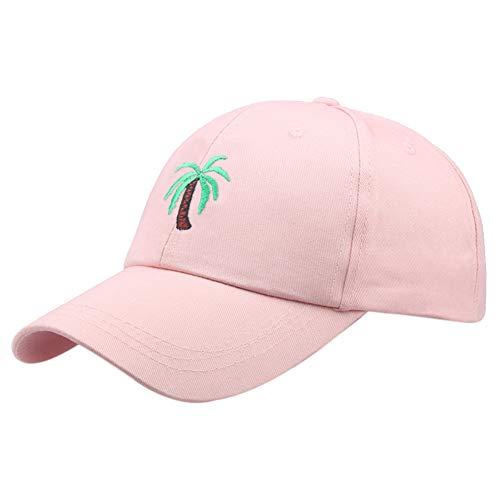 SunYoon Unisex bordado gorra de béisbol casual todo partido transpirable sombrero de sol, rosa, Talla única