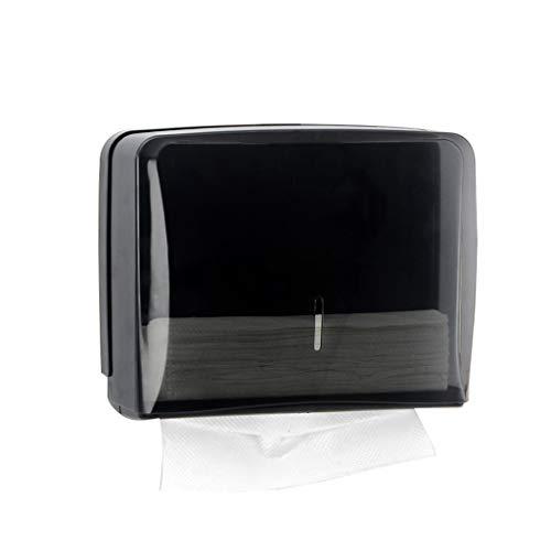 Papierhandtuchspender, Gewerbe Toilettenpapierspender Wandhalterung Papierhandtuchhalter C-Falten/Multifold Papierhandtuchspender for Badezimmer, Küche (Color : Black)
