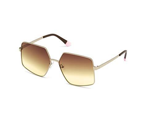 Victoria's Secret VS0025, Gafas Mujer, Oro Carico Lucido/Marrone Grad, 62