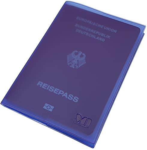 Fundas de Pasaporte 2 Bolsillos Made in UE (Lila)