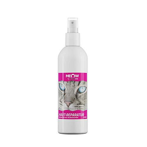 animalone Meow - Haut-Reparatur WUNDERSPRAY 200 ML - für die Katze bei Schürfwunden, Kratzern, Hautverletzungen, offenen Wunden & Ekzemen