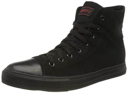 Elara Unisex Sneaker High Top Sportschuhe Chunkyrayan 019-A-AllBlack-36