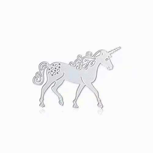 LINSUNG Stanzmaschine Stanzschablone, Scrapbooking Prägeschablonen Stanzformen Schablonen unicorn
