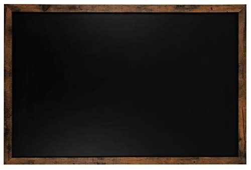 Loddie Doddie Magnetic Chalkboard - 24' x 36' Magnetic Large Chalkboard for Wall Decor - Easy to Erase Chalkboard Rustic Frame for Kitchen, Big Framed Magnet Blackboard - Hanging Black Chalkboards