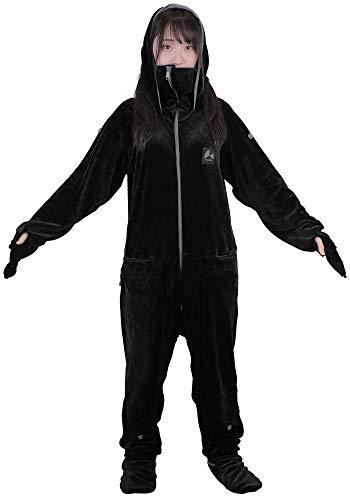 Bauhutte(バウヒュッテ) ゲーミング着る毛布 ダメ着4G ブラック Mサイズ HFD-4G-M-BK