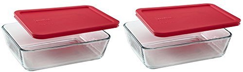 Pyrex 6-Cup Rectangle Food Storage, Pack of 2 Containers by Pyrex
