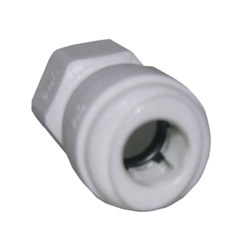 LASCO 19-6181 Thread Adapter for Faucet Connection Push-in Fitting with 1/4-Inch OD Tube and 1/4-Inch Compression Female Thread, Plastic