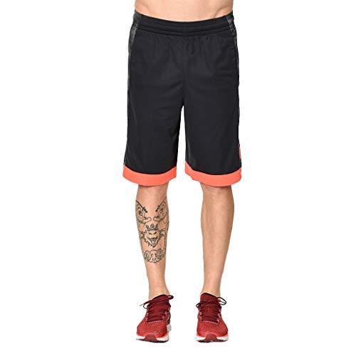 Under Armour Pantalones cortos de baloncesto para hombre, color negro/grafito, talla pequeña