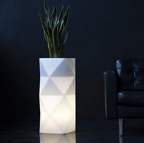 LED Blumentopf Asti Indoor / Outdoor XXL - Pflanzentopf mit Beleuchtung ideal für Pflanzen Innen und Außen – Blumenkübel - Pflanzenkübel – Raumteiler oder Hochbeet