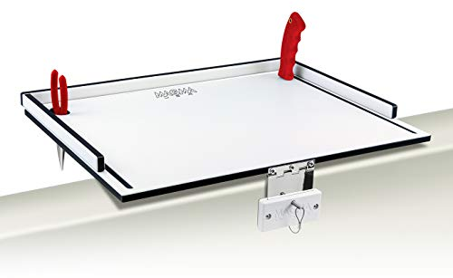 Magma Products Econo Mate Bait & Filet Table, White/Black/White, 20""