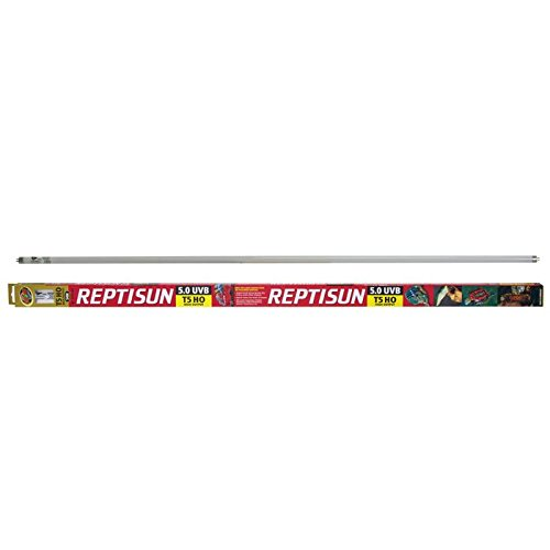 """Zoo Med ReptiSun 5.0 UVB T5HO 54W 46"""" Reptile Lighting Fluorescent Tube Bundle with Carolina Custom Cages' Chlorhexidine Solution 2%; 1 Refill Makes 32 oz. of Working Solution"""