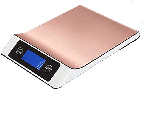 QUERT Balanzas Electrónicas Cocina electrónica de Alta precisión Pantalla LCD HD Digital de Alimentos de Acero Inoxidable
