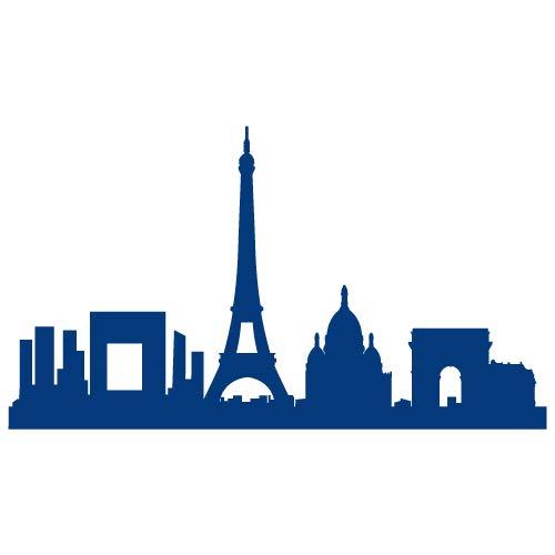 Sticker Interrupteur - Paris - Aspect Mat Blanc