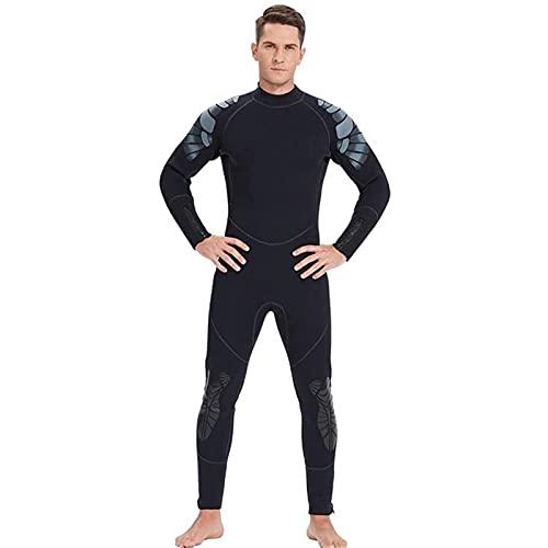 Herren Tauchanzüge, Neoprenanzug 5mm Neopren in voller Länge Thermal Tauchen Neoprenanzüge mit Rückenreißverschluss zum Schnorcheln, Tauchen Schwimmen, Surfen (Größe : L)