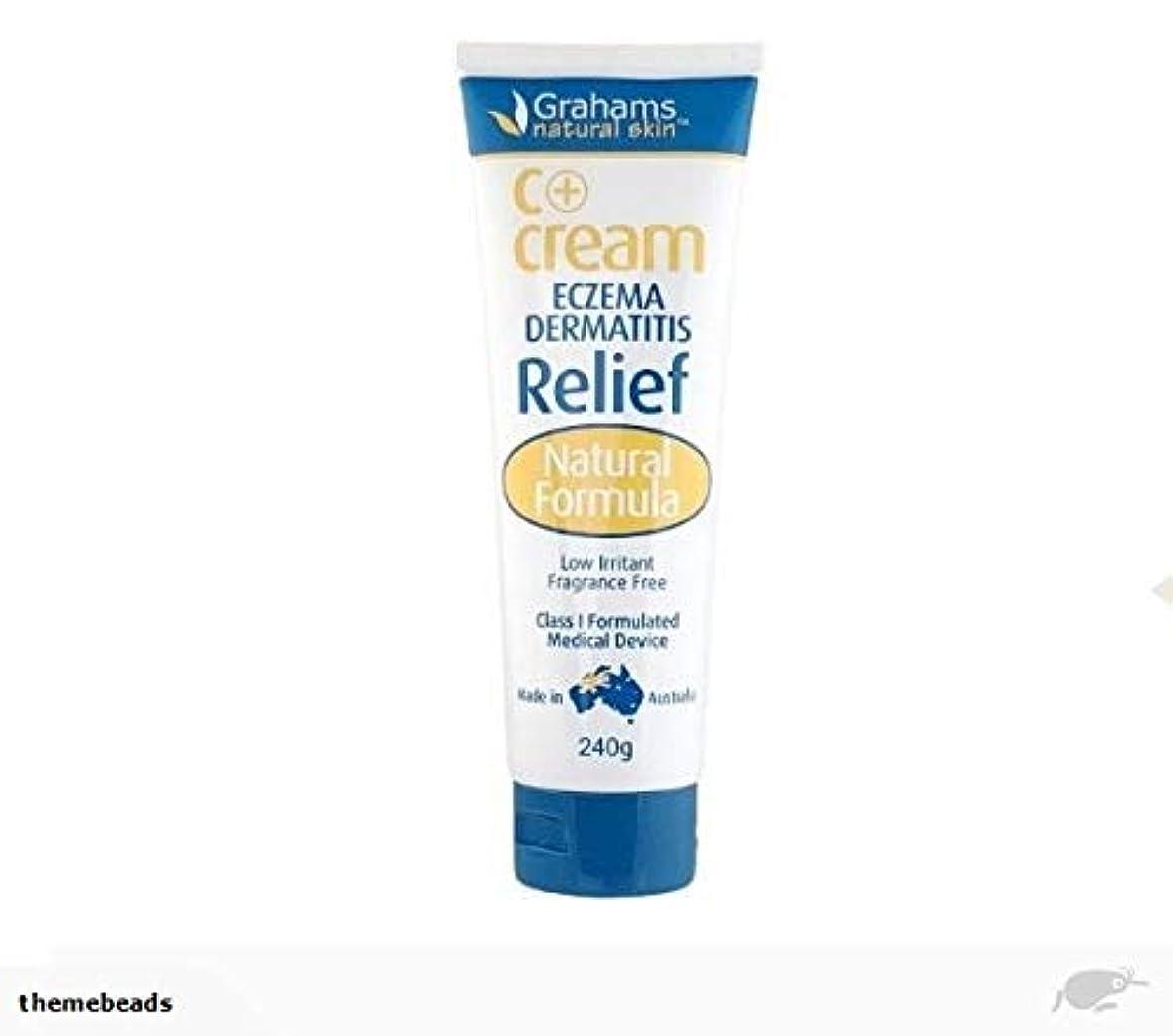 開梱フレームワークリテラシー[Grahams] 湿疹 かぶれ肌に C+クリーム 無香料 低刺激 (C+ Cream ECZEMA DERMATITIS Relif) 240g [海外直送品]