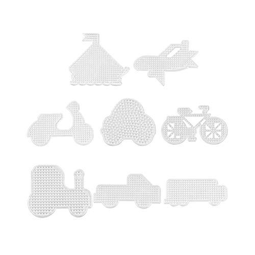 Artibetter 8Pcs Fuse Bead pegboards Forma de Coche Plantilla de plástico Cuentas...