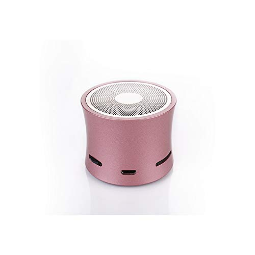 CHYSP Bluetooth Lautsprecher MP3-Player Remote Camera bewegliche Lautsprecher Metallic USB-Eingang MP3-Player Stereo-Multimedia-Lautsprecher (Color : D)