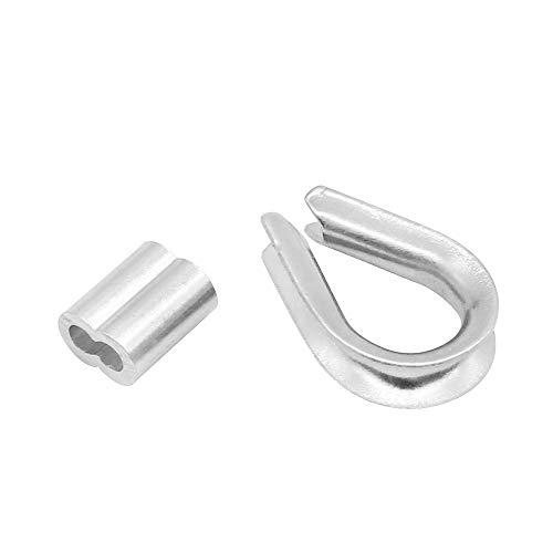 316/2,3,4,5,6,8,10/mm Duplex corda Grips acciaio inossidabile cavo morsetto clip