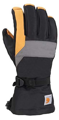 Carhartt Herren Pipeline Glove Handschuhe für kaltes Wetter, Schwarz/Dunkelgrau/Gerste, Groß