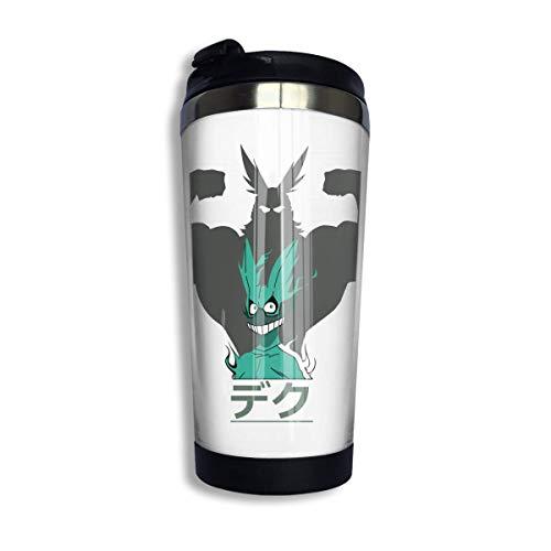 SHIJIAN My-Hero Academia-All Might - Taza de café aislada de acero inoxidable, a prueba de derrames, taza de café aislada, 13 onzas (400 ml)