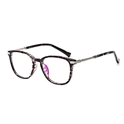 BOZEVON Gafas Falsas para Mujeres Hombres - Gafas de Sol Sin Receta Clásicas Ultraligeras Marco Gafas Antiguas Lentes Transparentes, Marrón gris mezclado, No es luz azul