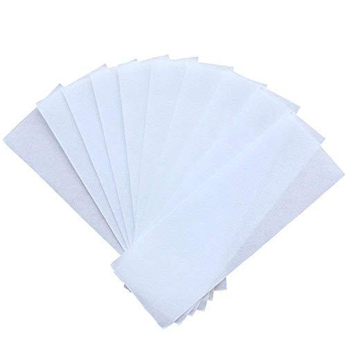 1Bag(100pcs) Non Woven Wax Strips Facial Body Hair Removal White Paper Honey Wax Paper