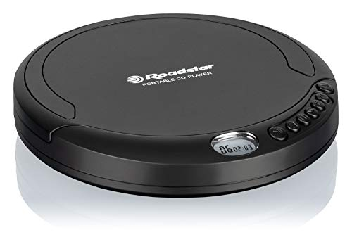 Roadstar PCD-435CD - Discman Portatil, Reproductor de CD, Pilas, Negro