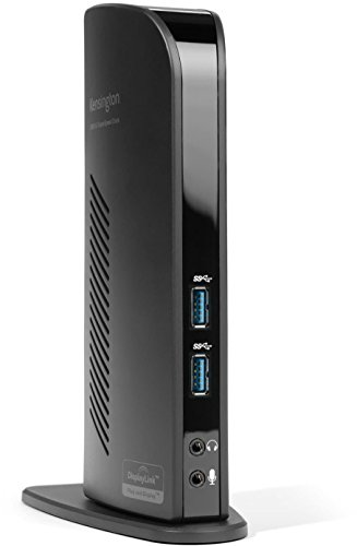 Kensington SD4800P USB-C Dockingstation mit erweiterbarer Bildschirmausgabe, Plug & Play, DisplayPort/HDMI, Geeignet für Windows, 60W Stromversorgung, K38249EU