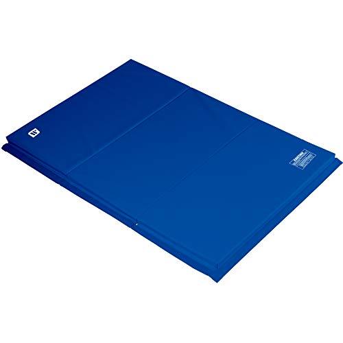 Colchonetas plegables marca WE SELL MATS, para gimnasia de piso, ejercicios, artes marciales, con ganchos y correas sujetadores. - 4x6BL15IN, 4' x 6' x 1.5', Azul