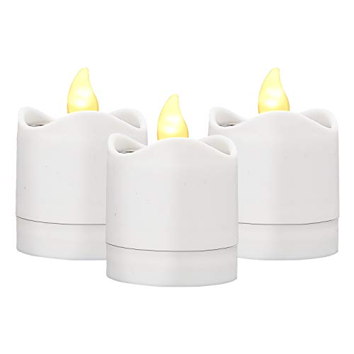 TYXSHIYE 6PCS Solar Candle Lights Outdoor, Warm White Light Solar Flickering Candle Lights Flameless Waterproof Candle Lights for Outdoor Wedding Christmas Halloween Party Decor