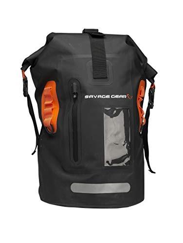Savage Gear Waterproof Rollup Dry Bag 40 Liter Wasserdichte Tasche schwarz Rucksack