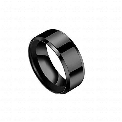 ERDING Unisex/Verlobungsring/Freundschaftsring/Auxauxme Einfache Titan Stahl 8mm Eheringe Ring Rianbow/Blau/Rotgold/Schwarz Party Geschenk Für Männer Mode