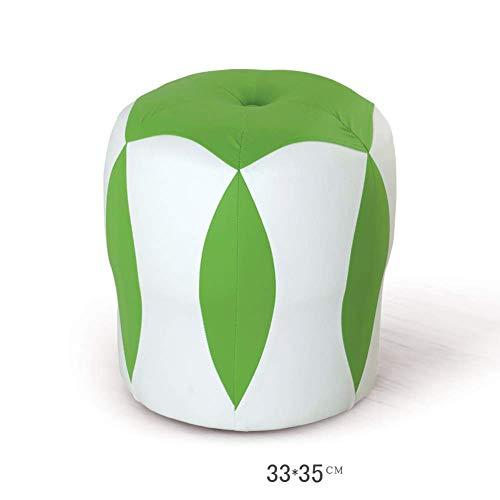 WWWWW-DENG barkruk kruk voetenkruk werkkruk opstapkruk naaien creatieve lederen salontafel klein blok toevoegen kruk sofa kruk duurzaam (kleur: groen) barkruk