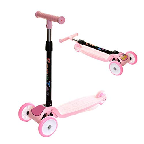 Sale!! Ailler Durable Portable With Flash Wheels Folding Adjustale Sliding Children Scooter Rocking ...