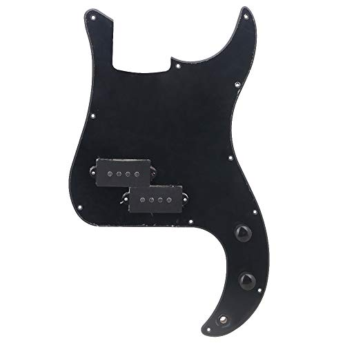 BQLZR Prewired PB Bass Pickguard Kit f¨¹r P-Bassgitarre schwarz
