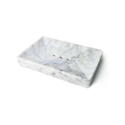 NYKK Accesorios para Cuarto de baño/Set de baño Mármol Jabonera - Pulido y Brillante Titular de mármol Plato bellamente diseñado Accesorios de baño Juego de Accesorios para baño