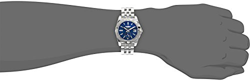 Breitling Galactic 36 Women's Automatic Watch with Blue Dial Analogue Display and Silver Stainless Steel Bracelet A3733012/C824/376A