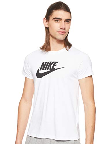 Nike W Nsw Tee Essntl Icon Futura, T-Shirt Donna, Bianco (White/Black), M
