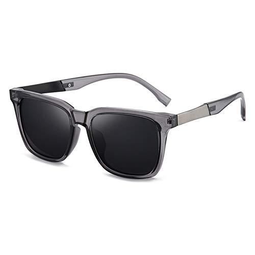 SSN Gafas De Sol Hombres Gafas De Sol Polarizadas Tendencia Caja De Ojos GM Pesca Cuadrada Conducción Gafas Especiales (Color : B)