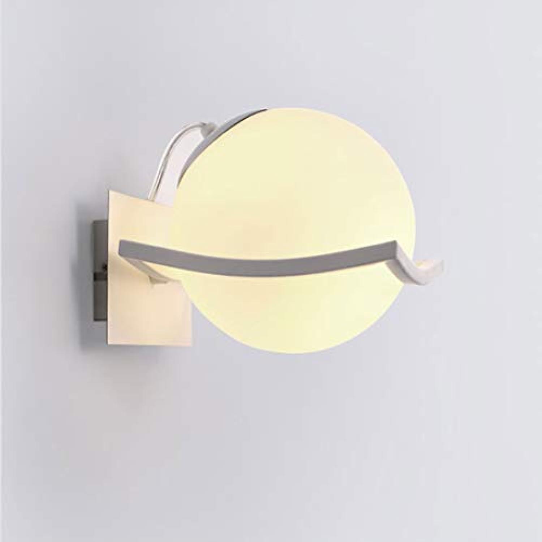 MTGYF Moderne led Schlafzimmer nachttischlampe einzigen Kopf Glas Wandleuchte kreative Wohnzimmer Wandleuchte gehweg Lampe Durchmesser 16 cm Beleuchtung