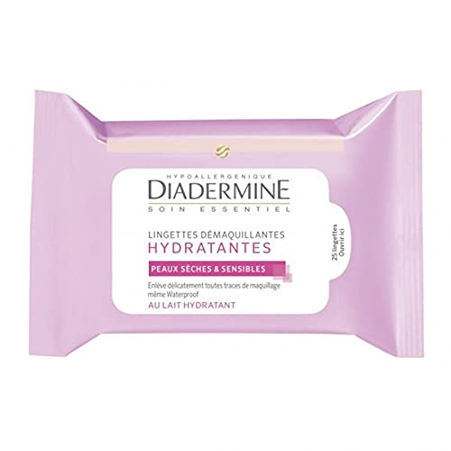 DIADERMINE Lingettes Démaquillantes Hydratantes Peaux Sèches & Sensibles (lot de