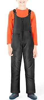 Sportneer Kids Insulated Snow Bib Unisex Waterproof Snow Overalls for Boys/Girls/Youth/Teen