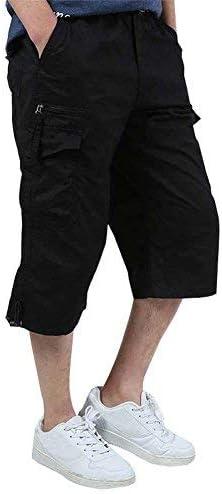 Banana Bucket Men's 3/4 Cotton Cargo Short Casual Loose Fit Outdoor Pant