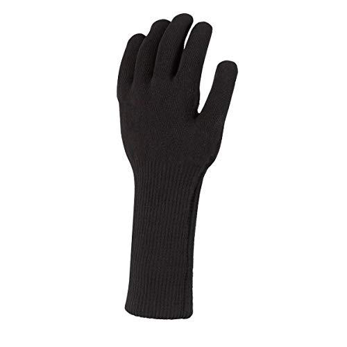 SealSkinz Unisex Waterproof All Weather Ultra Grip Knitted Gauntlet handschuhe kinder, Schwarz, M