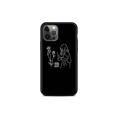 Abstract Art Line - Carcasa para iPhone 11 Pro 12 Mini XR X 7 8 6 6S Plus XS Max 5 5S SE 2020 Cover TPU Shell -B01-for iPhone 12Pro Max